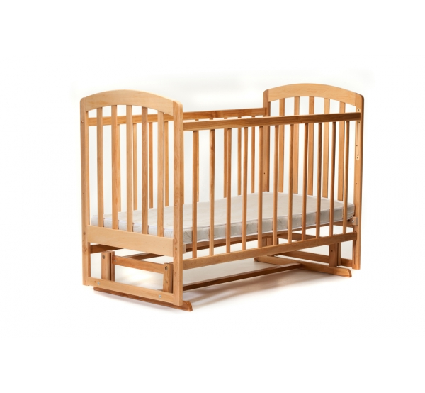 Детская кроватка « ЛАМА » маятник натуральный лак