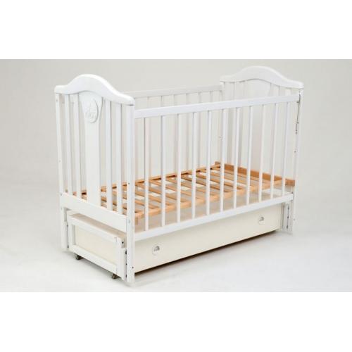 Детская кроватка «НАПОЛЕОН NEW» маятник белая