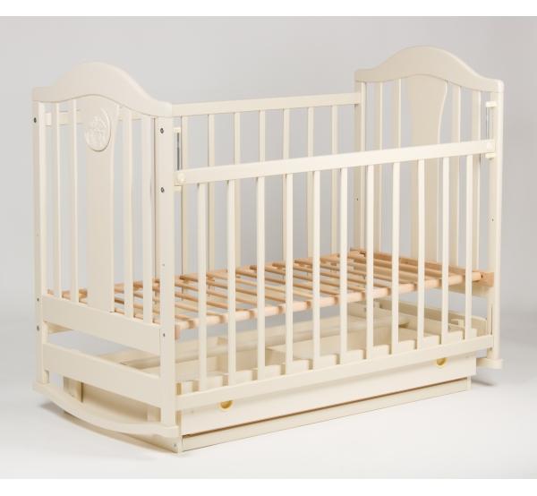 Детская кроватка «НАПОЛЕОН NEW» маятник ваниль