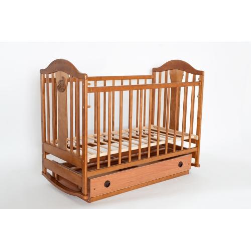 Детская кроватка «НАПОЛЕОН NEW» маятник орех
