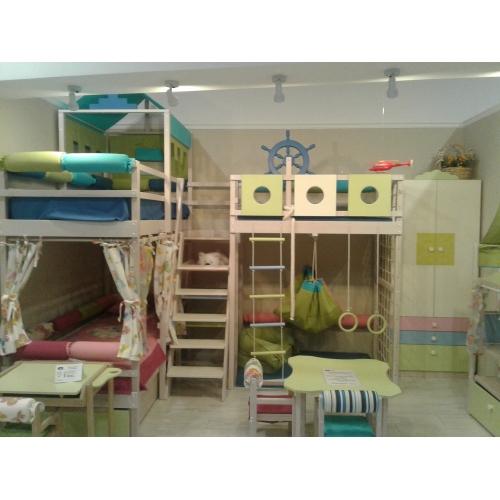 Детский спально-игровой комплекс из дерева