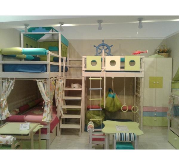Детский спально-игровой комплекс для двоих детей