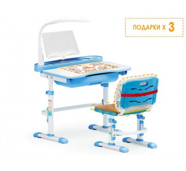 Детский комплект парта и стульчик Evo-kids Evo-17 (с лампой)