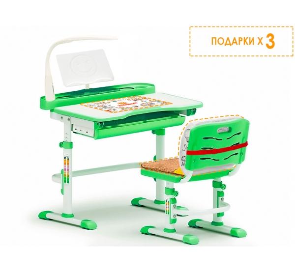 Детский комплект парта и стульчик Evo-kids Evo-18 (с лампой)