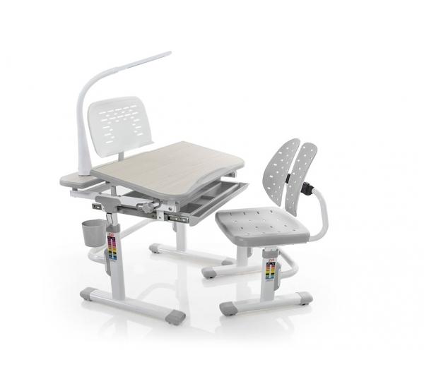 Комплект парта и стульчик Evo-kids Evo-05 (с лампой)