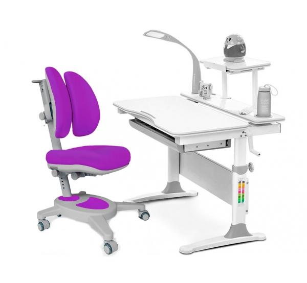 Комплект парта Evo-30 (натуральное дерево) и кресло Onyx Duo c лампой