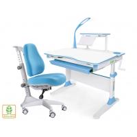 Комплект парта Evo-30 (натуральное дерево) и кресло Match gray base c лампой