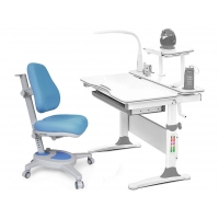 Комплект парта Evo-30 (натуральное дерево) и кресло Onyx c лампой