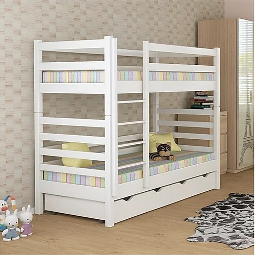 Кровать двухъярусная деревянная 80*190