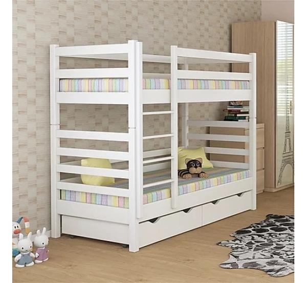 Детская кровать двухъярусная деревянная Димас