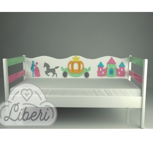 """Кровать детская декорированная """"Золушка mix"""""""
