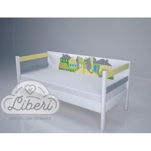 """Кровать детская декорированная """"Коты на крыше"""""""