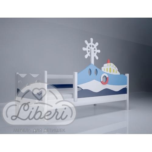 """Кровать детская декорированная """"Морячок""""+борт"""