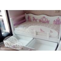 """Кровать детская декорированная """"Золушка pink"""""""