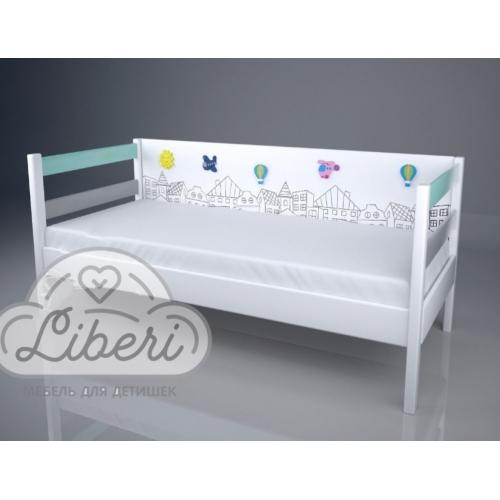 """Кровать детская декорированная """"Городок"""""""
