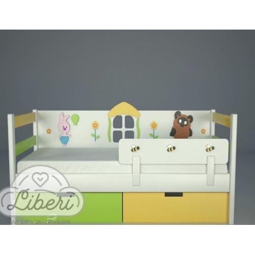 """Кровать детская декорированная """"Винни и друзья"""""""