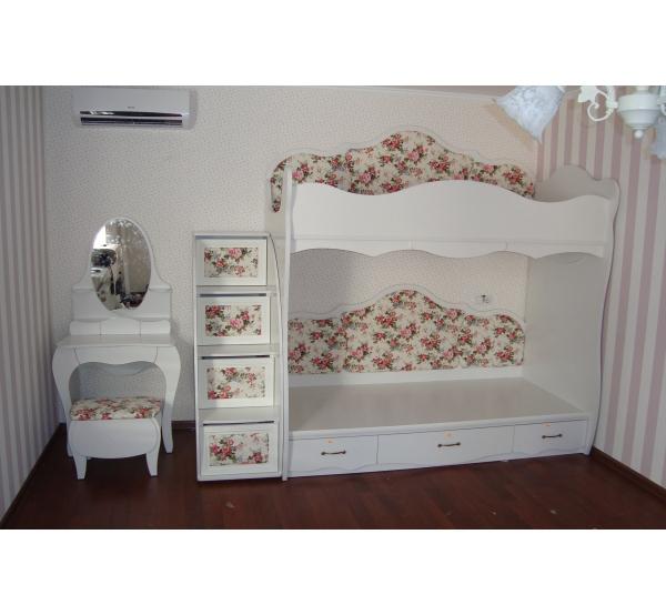 Детская кровать двухъярусная Прованс