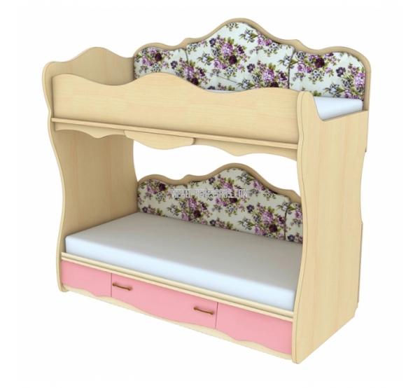 Двухъярусная кровать с увеличением спального места КДРП 4-51 Прованс