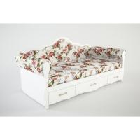 Кровать с мягкими тканевыми бортиками К 4-2 Прованс