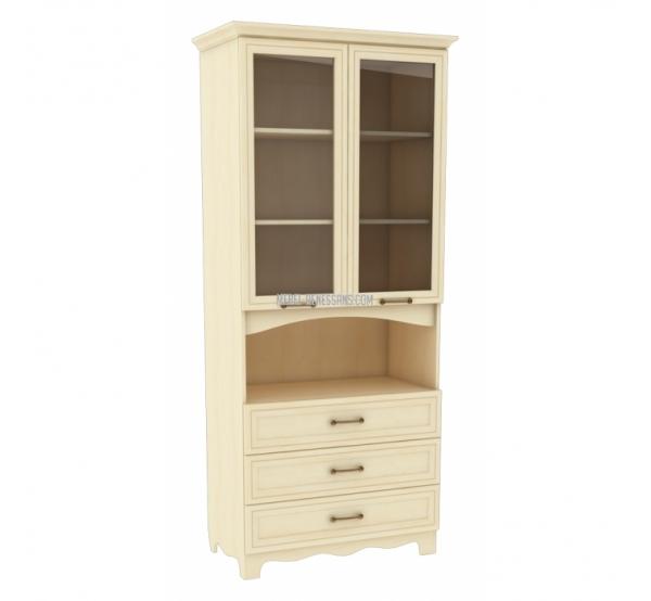 Шкаф книжный ШК 4-163  Прованс