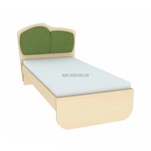Кровать с двойной тканевой накладкой Планета Луна