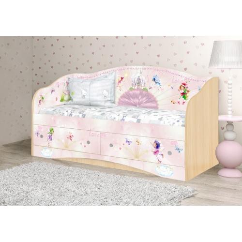 """Кровать детская """"Веер"""" D-1.07.29 Вальтер"""