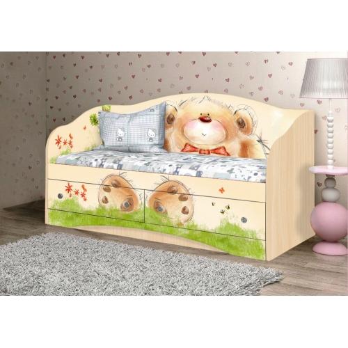 """Кровать детская """"Мишка с букетом"""" D-1.07.37 Вальтер"""