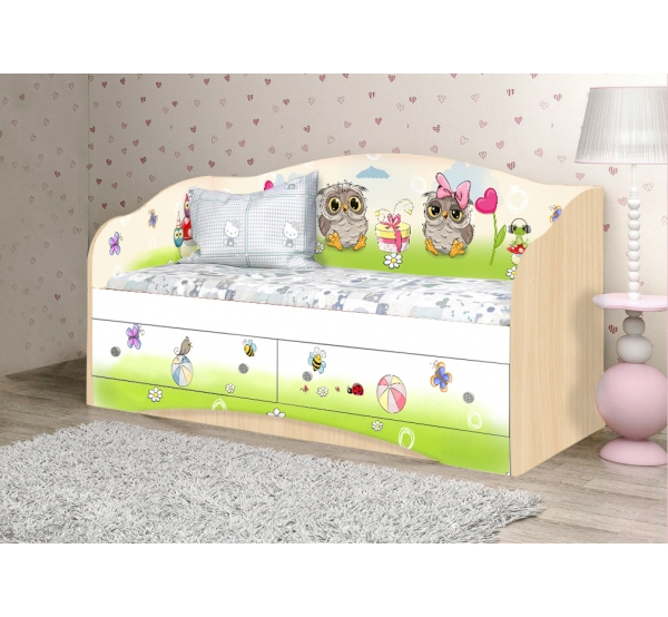 """Кровать детская """"Совы"""" D-1.07.64 Вальтер"""
