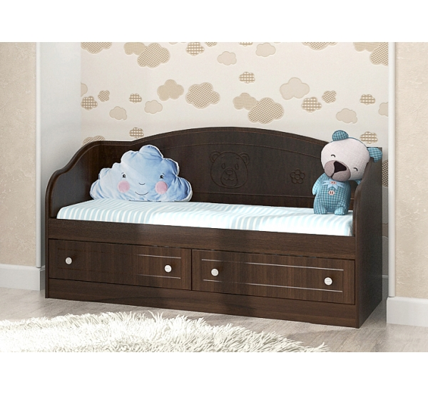 """Кровать детская """"Мишка"""" D-4.07.M4 Вальтер"""