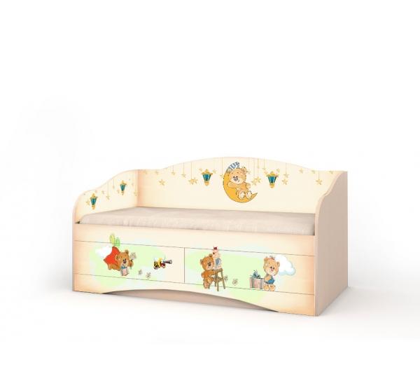 """Кровать детская """"Мишка Хеппи"""" D-1.07.32 Вальтер"""