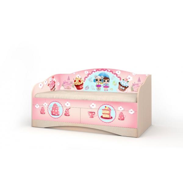 """Кровать детская """"Лола"""" D-1.07.74 Вальтер"""