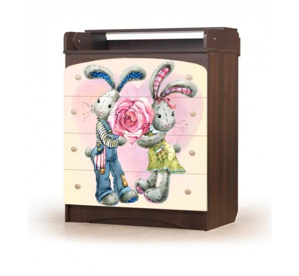 """Комод пеленальный """"Кролики"""" KD-4.83 Вальтер"""