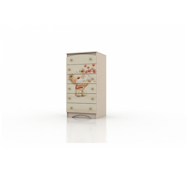 """Высокий комод """"Мишка с букетом"""" KDV-1.37 Вальтер"""