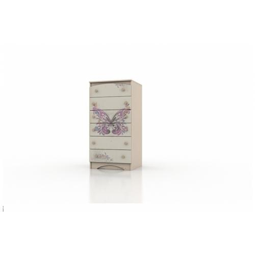 """Высокий комод """"Бабочки"""" KDV-1.39 Вальтер"""