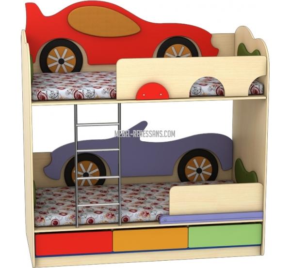 Кровать двухъярусная «Кабриолет-Машинка»