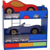 Двухъярусная кровать «Кабриолет-Машинка» Лунная Сказка